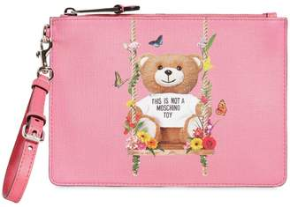 Moschino Teddy Printed Pouch