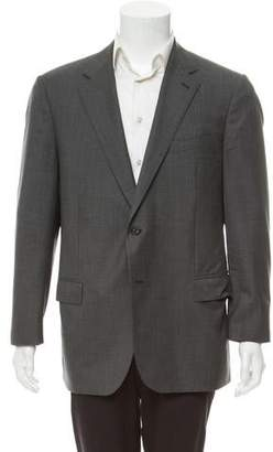 Caruso Notched Lapel Two-Button Blazer