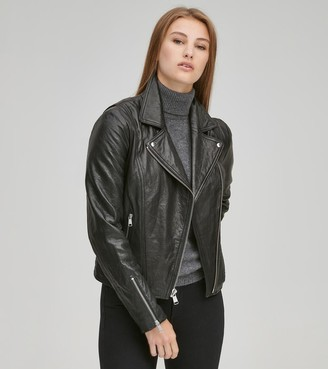 Andrew Marc HASTINGS ASYMMETRICAL LEATHER JACKET
