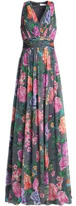 Matthew Williamson Floral-Print Silk-Chiffon Halterneck Dress