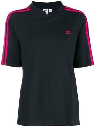 adidas contrast sleeve T-shirt