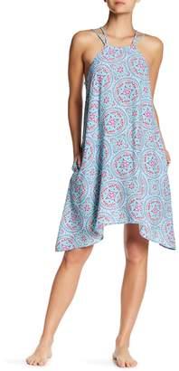 Helen Jon Sharkbite Hem Printed Sun Dress