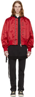 Unravel Red Explicit Chop Over Bomber Jacket