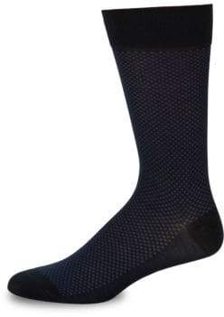 Bruno Magli Geometric Dress Socks