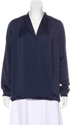 Maison Scotch Long Sleeve V-Neck Top
