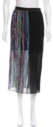 Sandro Plissé Midi Skirt $70 thestylecure.com