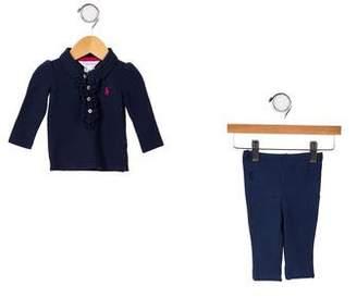 Ralph Lauren Girls' Knit Pant Set