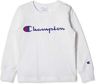 Champion (チャンピオン) - [チャンピオン] プリント ロングスリーブTシャツ CS4798 ボーイズ オフホワイト 日本 140 (日本サイズ140 相当)