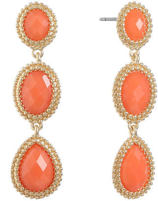 MONET JEWELRY Monet Jewelry Orange Drop Earrings