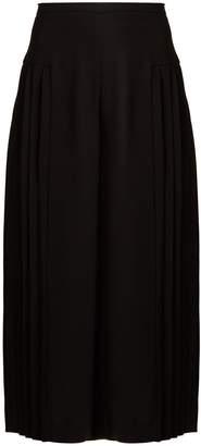 Osman Miriam pleated crepe culottes