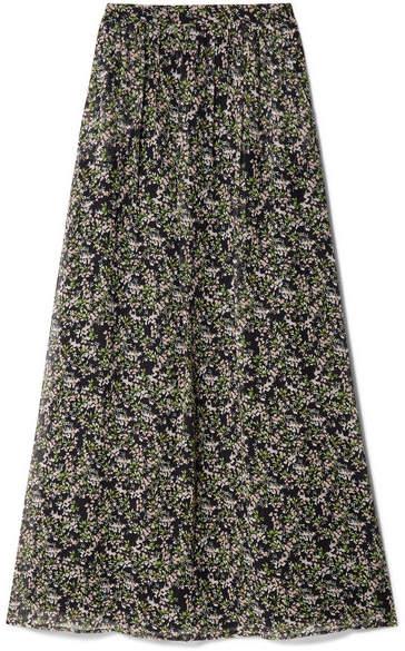 Paul & Joe Imagine Floral-print Silk-crepon Maxi Skirt