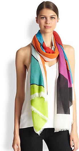 Yarnz Triangle Cashmere & Silk Scarf