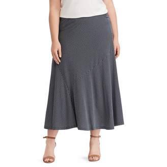 Chaps Plus Size Stripe Skirt