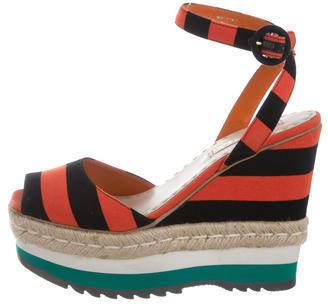 pradaPrada Platform Espadrille Sandals