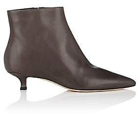 The Row Women's Coco Leather Ankle Boots - Coal