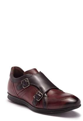 Bacco Bucci Iker Leather Double Monk Strap Sneaker