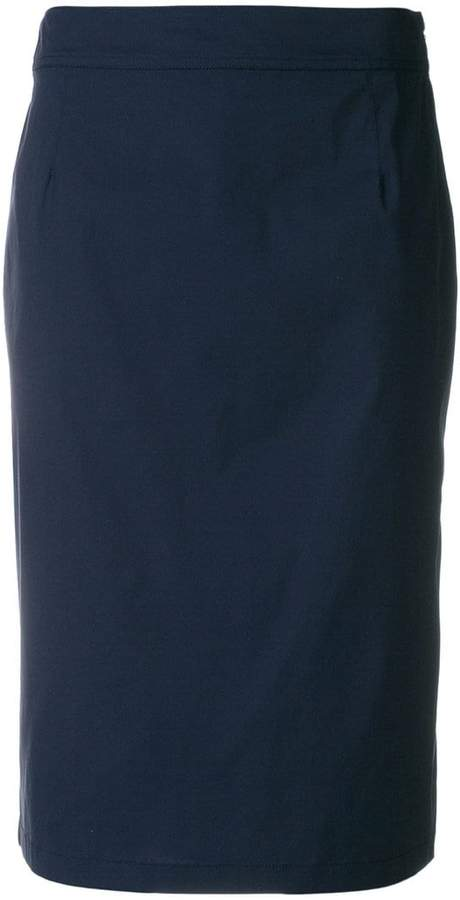 Prada straight midi skirt