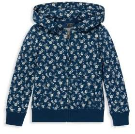 Ralph Lauren Girl's Floral French Terry Hoodie