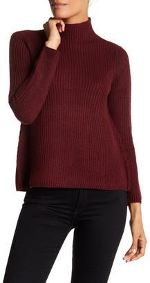 RESEARCH & DESIGN Mock Turtleneck A-Line Sweater (Petite) $88 thestylecure.com
