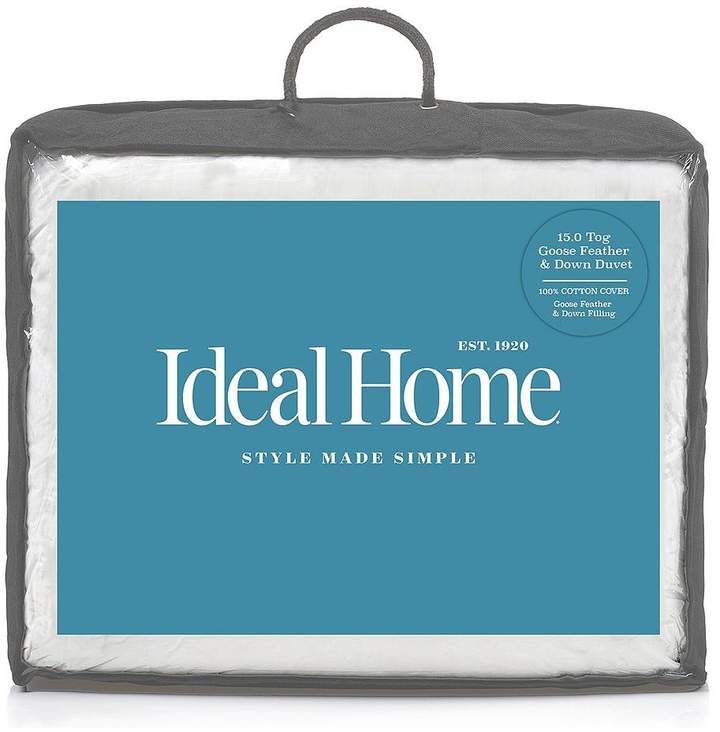 Ideal Home Luxury Goose Feather & Down 15 Tog Duvet