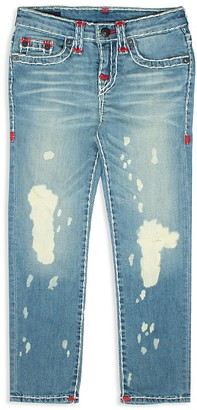 True Religion Boys' Geno Super T Bleached & Distressed Jeans - Little Kid $129 thestylecure.com