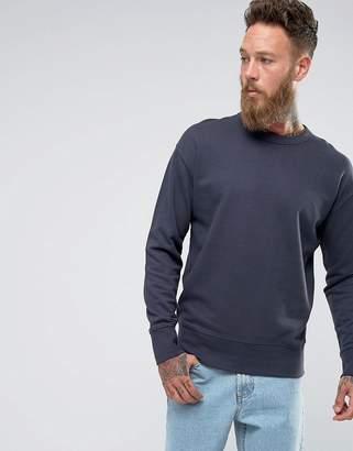 Selected Sweatshirt With Drop Shoulder Detail