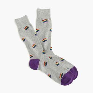 J.Crew Pride flag print socks