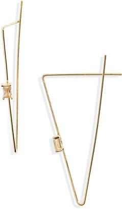 Lula Crystal Charm Triangle Hoop Earrings