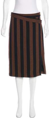 By Malene Birger Knee-Length Striped Skirt w/ Tags
