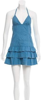 Marc Jacobs Denim Halter Dress