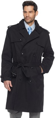 London Fog Tower By Men's Tower by Raised Twill Double-Breasted Rain Coat