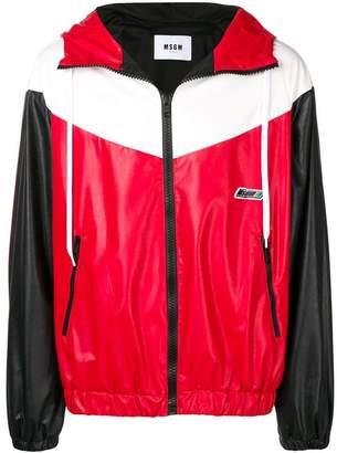MSGM colour block sports jacket