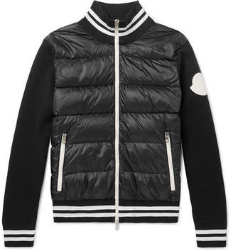 9ddea59e01afd Moncler Slim-Fit Quilted Shell And Jersey Down Jacket