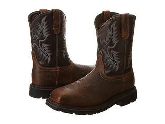 Ariat Sierra Wide Square Toe Puncture Resistant Steel Toe Cowboy Boots