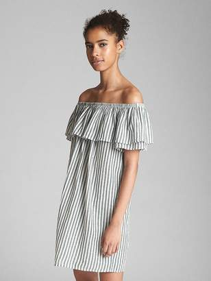 Gap Off-Shoulder Ruffle Cover-Up