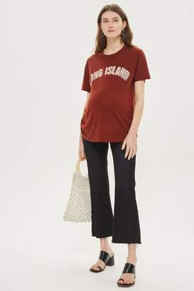 Topshop Maternity 'Long Island' Motif T-Shirt