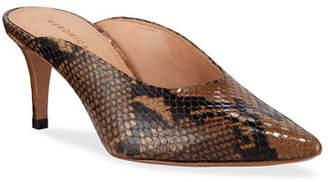 Veronica Beard Taran Snake-Print Slide Mules