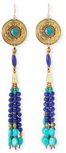 Devon Leigh Antique-Inspired Tassel Drop Earrings