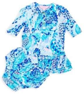 Lilly Pulitzer Baby Girl's Polo Dress& Bloomers Set