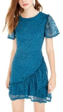 City Studios Juniors' Lace Ruffled Dress