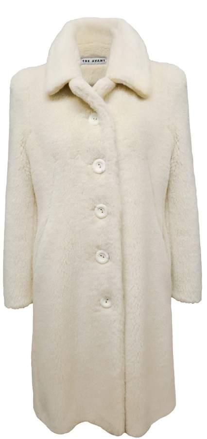 THE AVANT - Baby Alpaca Coat In Ivory White