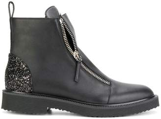 Giuseppe Zanotti Kat glitter panel boots