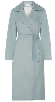 Max Mara - Belted Camel Hair Coat - Sky blue $3,150 thestylecure.com