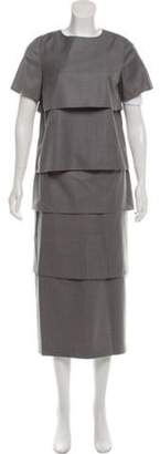 Black Fleece Tiered Skirt Set Grey Tiered Skirt Set