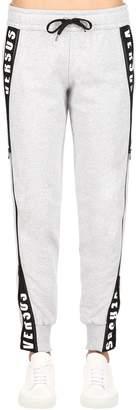Versus Hidden Logo Printed Cotton Sweatpants