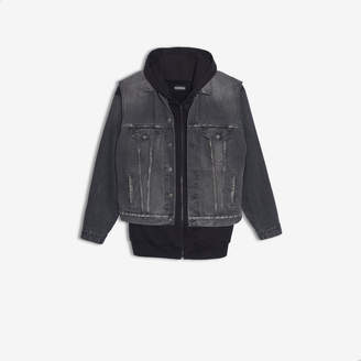 Balenciaga 2-in-one denim vest and sweater