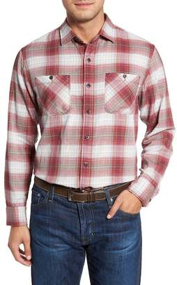 Tommy Bahama Duble Ombre Standard Fit Plaid Sport Shirt