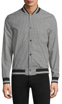 The Kooples Gingham Bomber Jacket