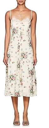Barneys New York Women's Floral Georgette Slipdress - White