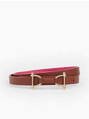 Talbots Reversible Leather Tab Belt